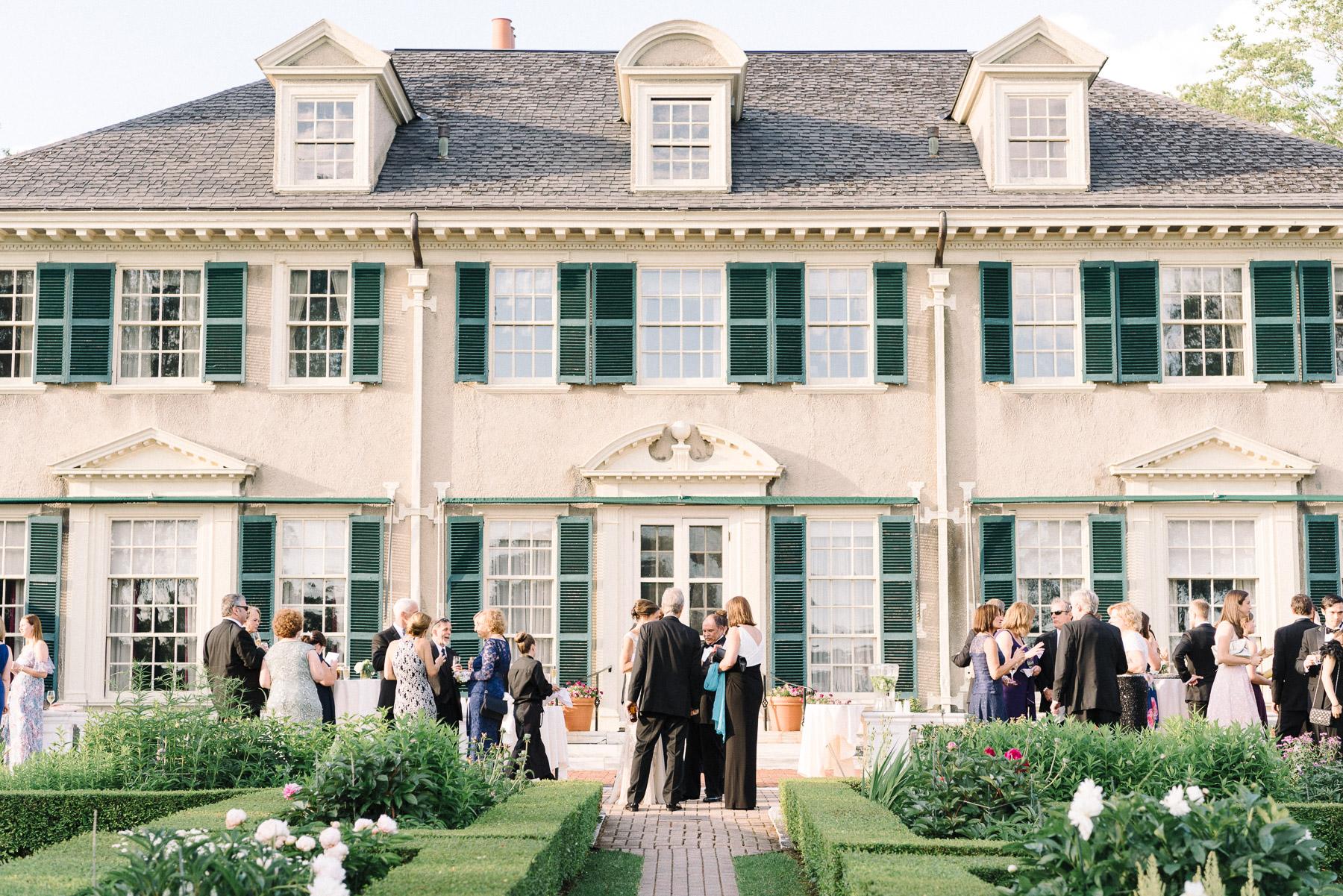 Manchester Vermont Wedding Hildene Estate Cocktail Hour