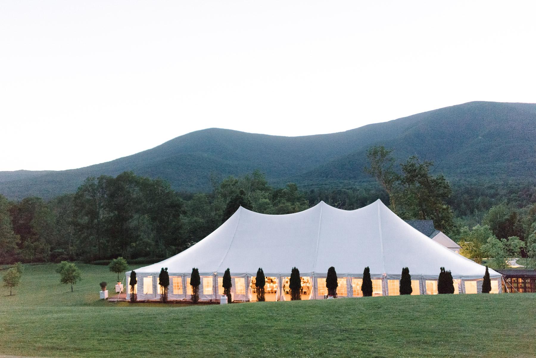Manchester Vermont Wedding Hildene Estate Reception Tent