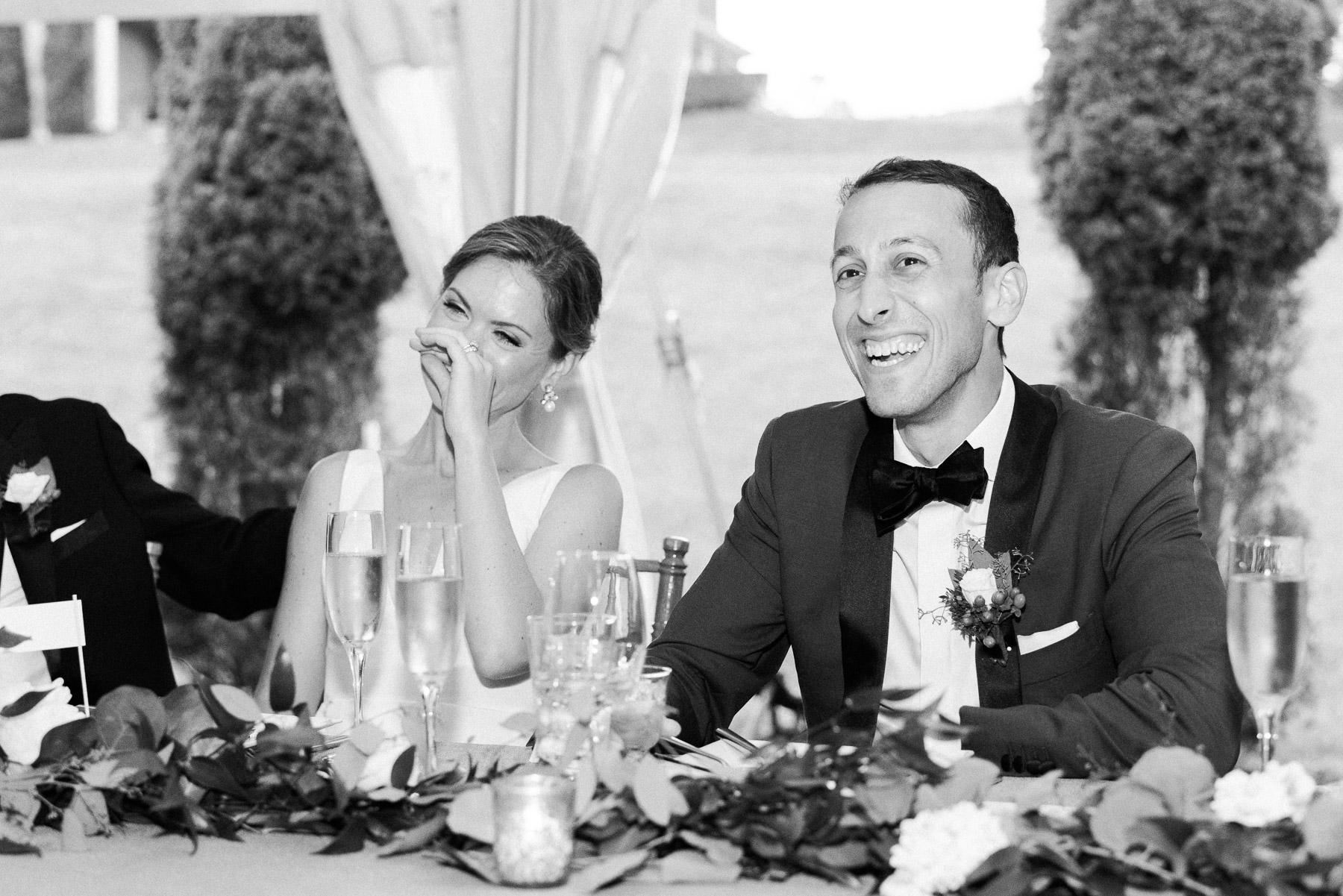 Bride and Groom First Speech Photos