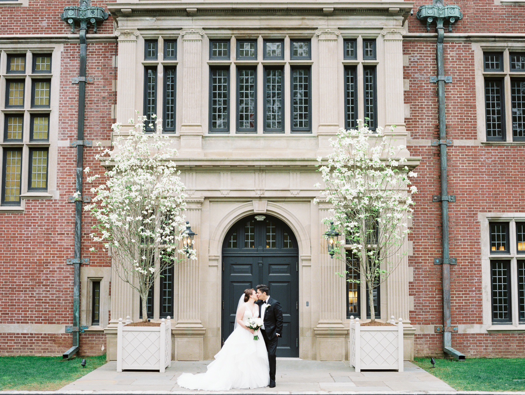 Bride and Groom at Natirar in NJ