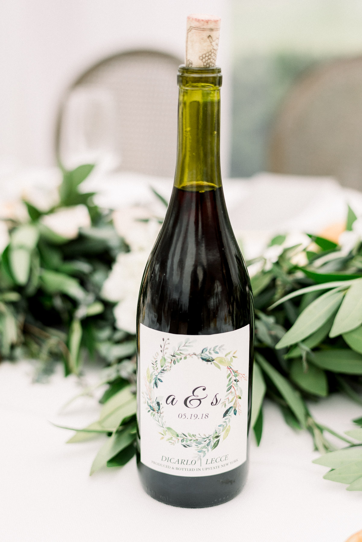 Custom Wine for Wedding