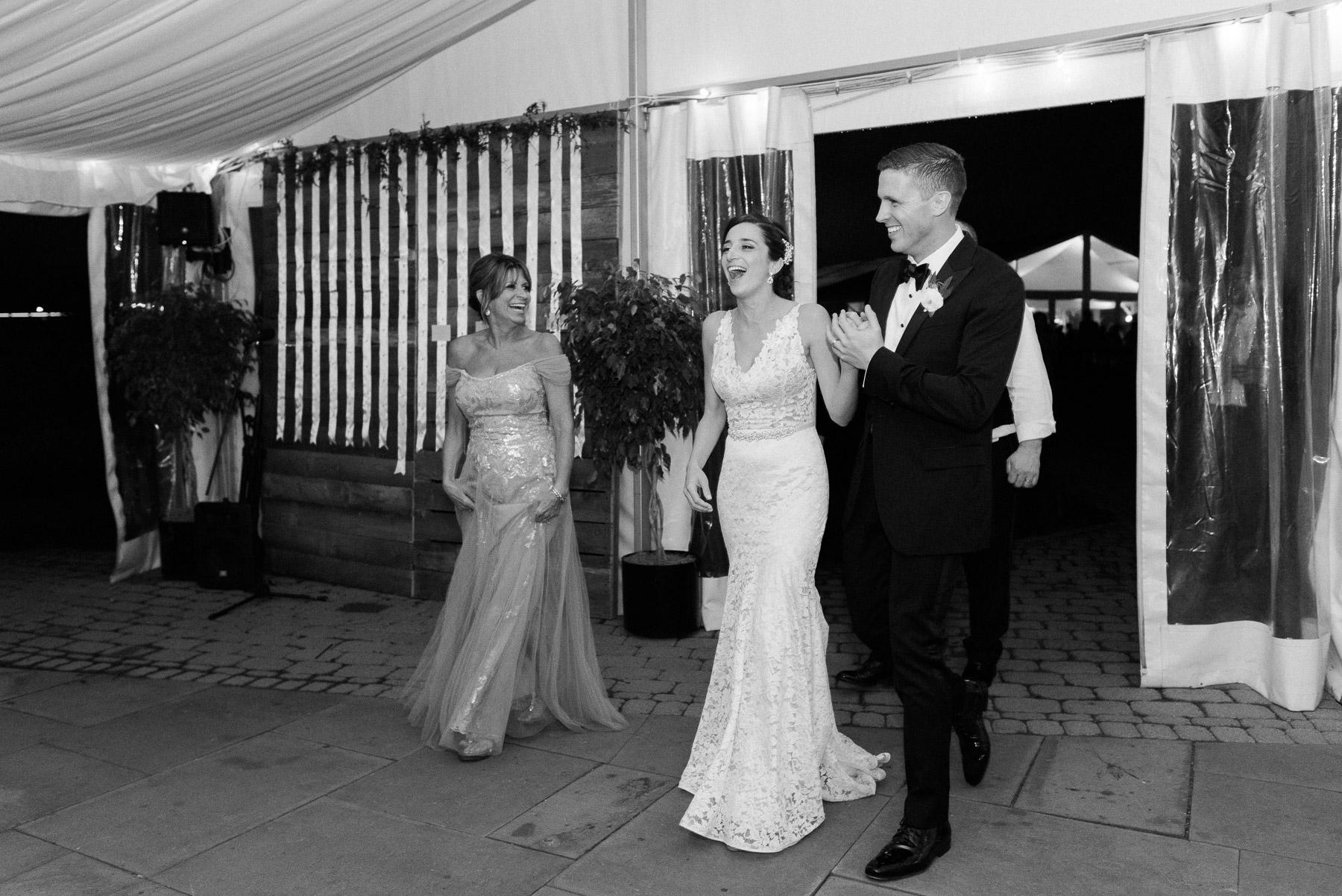 Surprised Bride and Groom