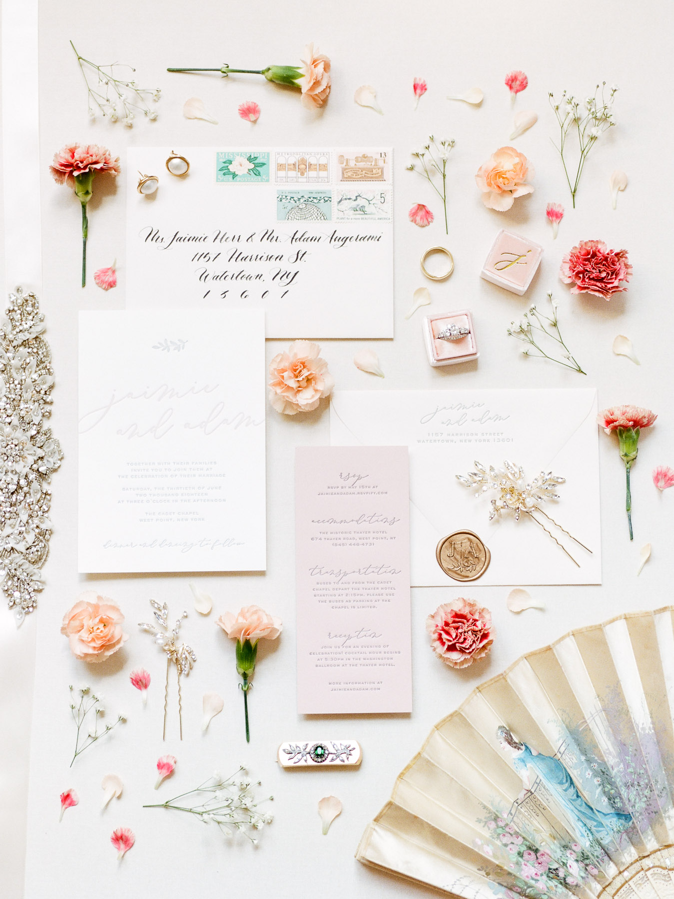 Invitation Flat Lay Wedding Details