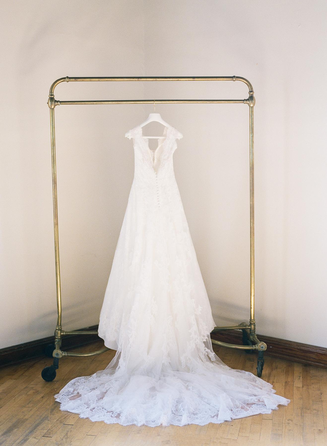 Pronovia's wedding gown.