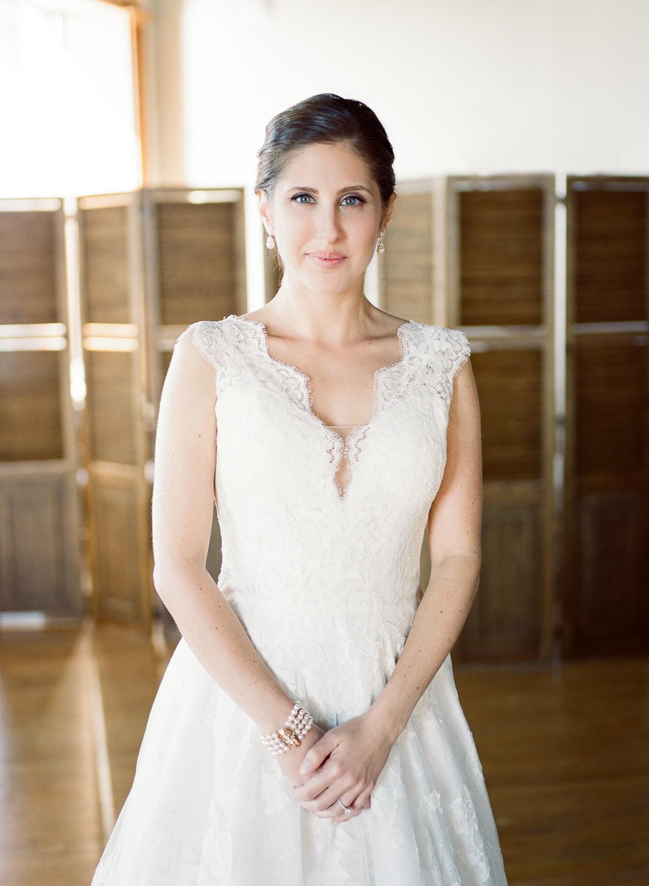 Classic Bridal Portrait in Liberty Warehouse