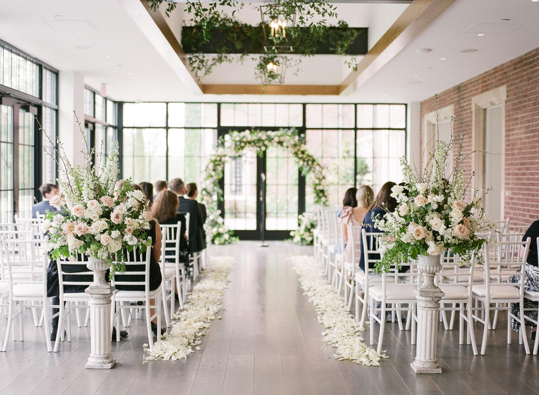 conservatory wedding at Natirar Mansion