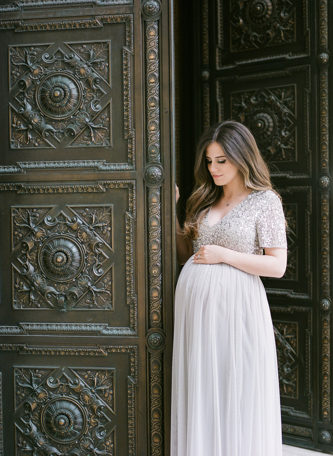 NY Maternity Session in ASOS Dress