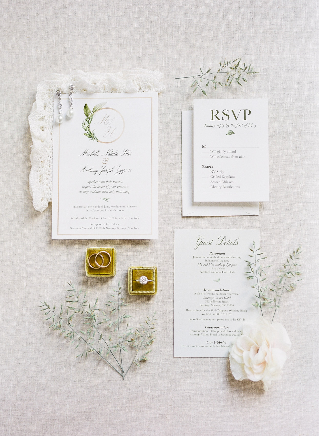 Katie Menz Wedding Invitation