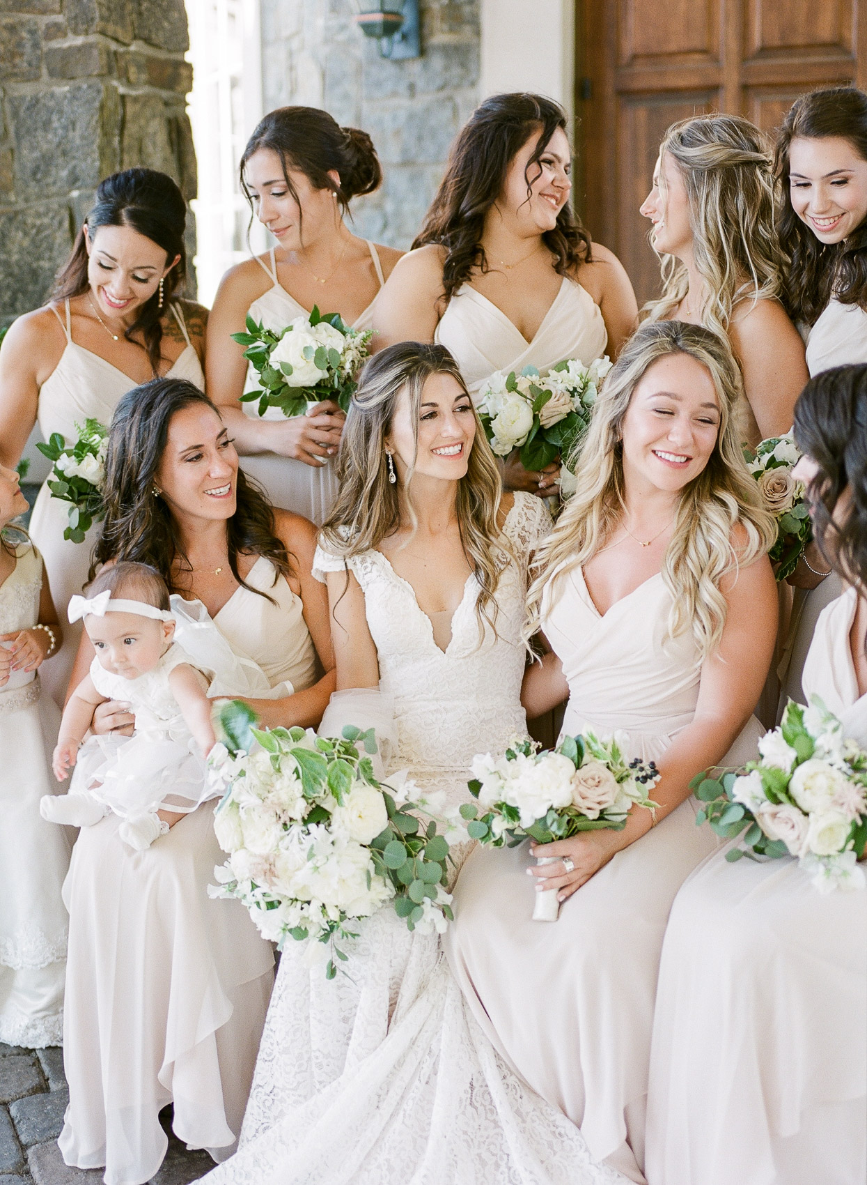 Must have wedding day photo with bridesmaids