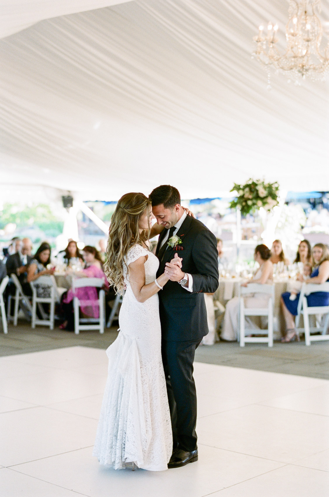 First dance saratoga national golf club tented wedding