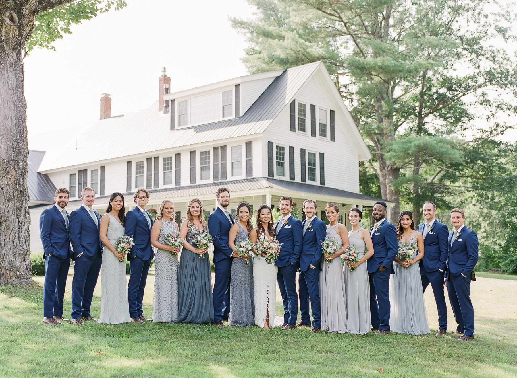 Bridal Party Bear Mountain Inn Waterford Maine Wedding