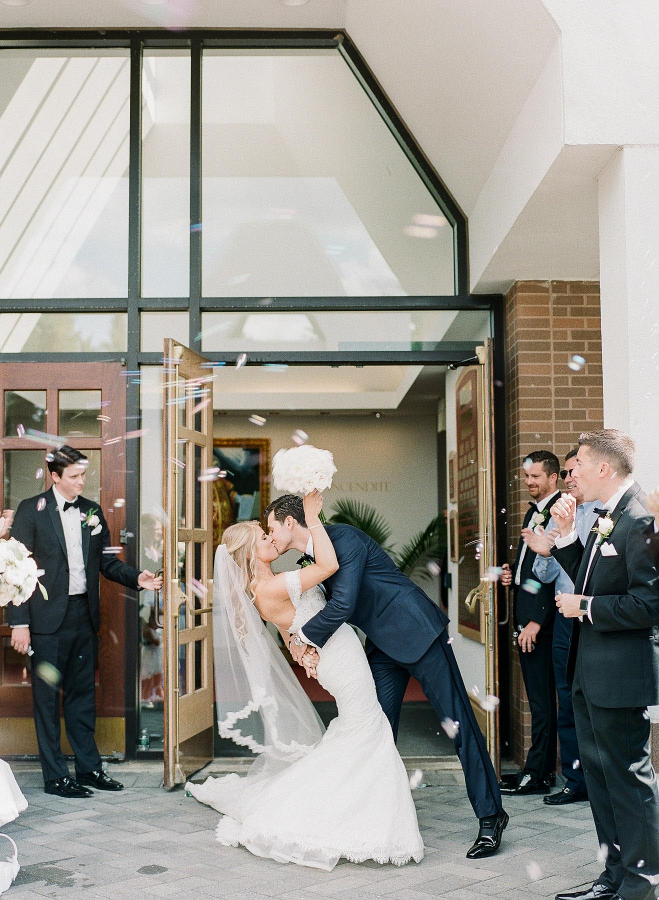 Wedding at Fairfield University Chapel Bubble Exit