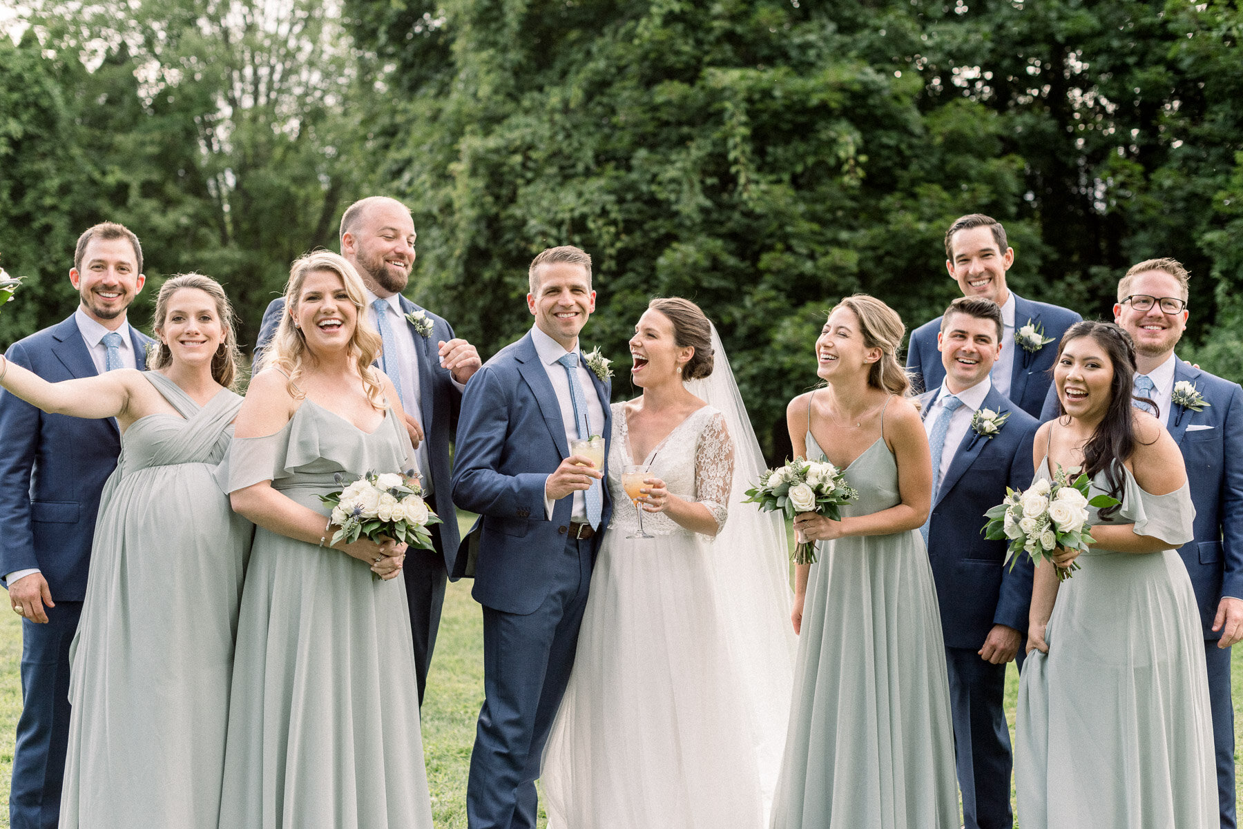 Cute bridal party photo The Lodge Saratoga Springs Wedding