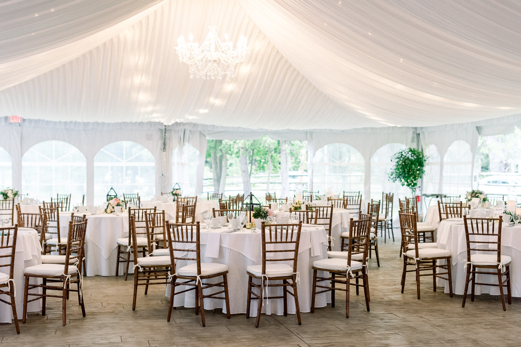 The Lodge Saratoga Springs Wedding Tented Reception