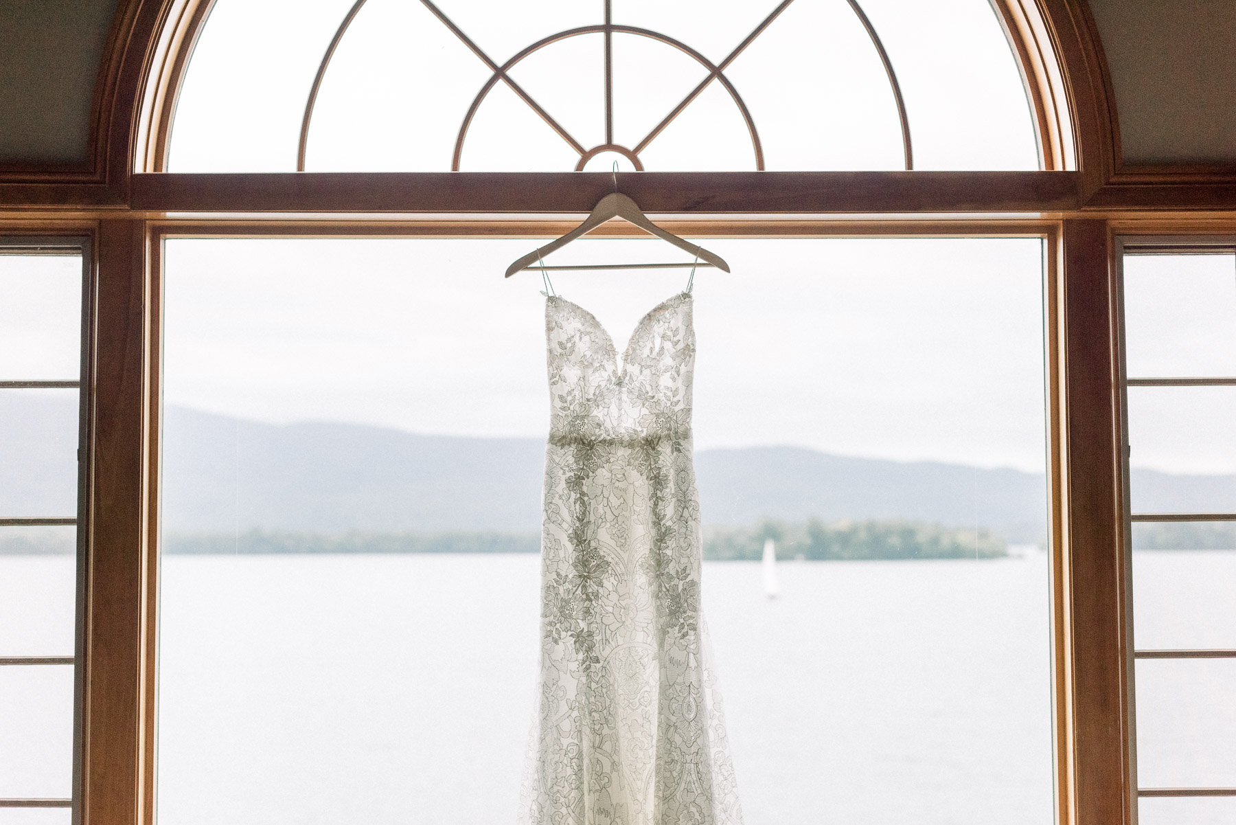Monique Lhullier Wedding Dress Lake George Wedding