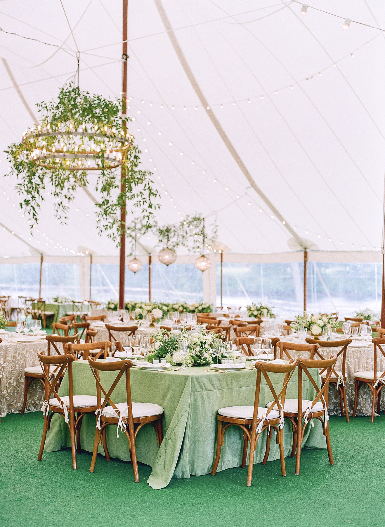 Incredible tent decor Private island wedding in upstate ny