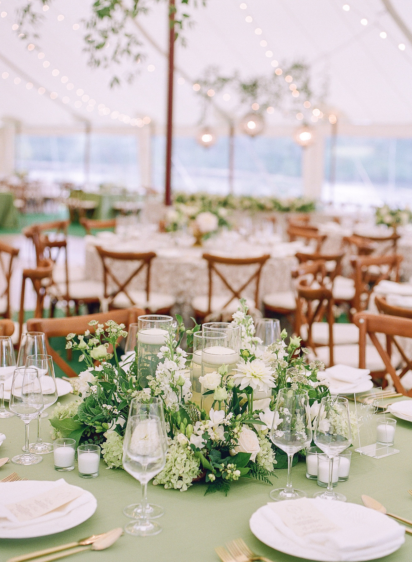 Christine wheat and renaissance floral design Private island wedding in upstate ny