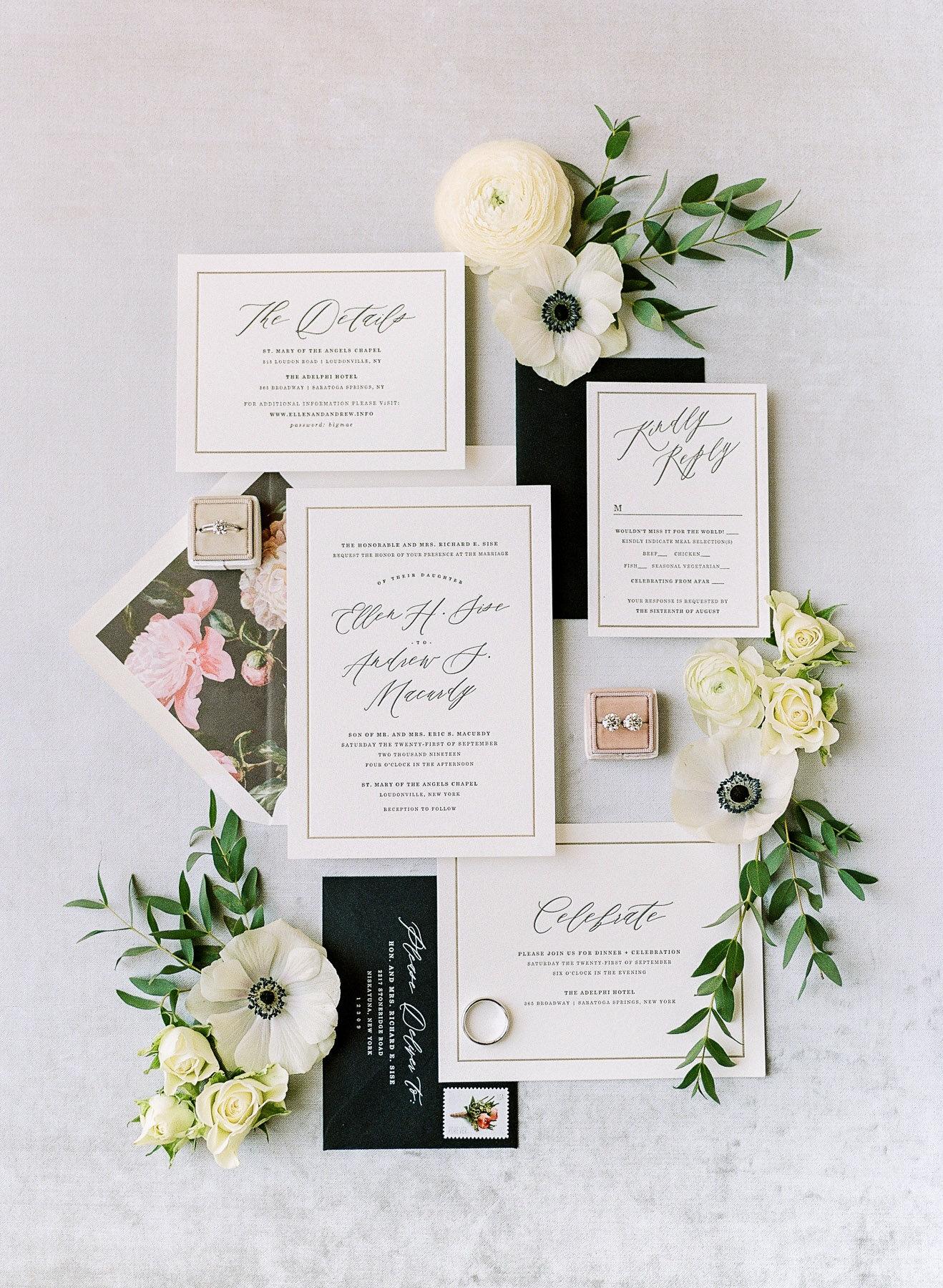 Darling and Pearl Wedding Invitation