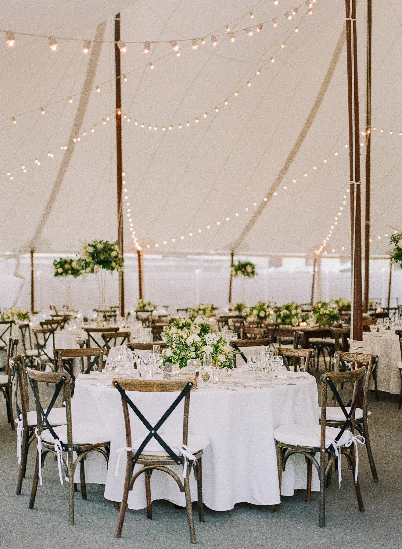 Sailcloth Tent Reception Adelphi Hotel Wedding Saratoga Springs NY
