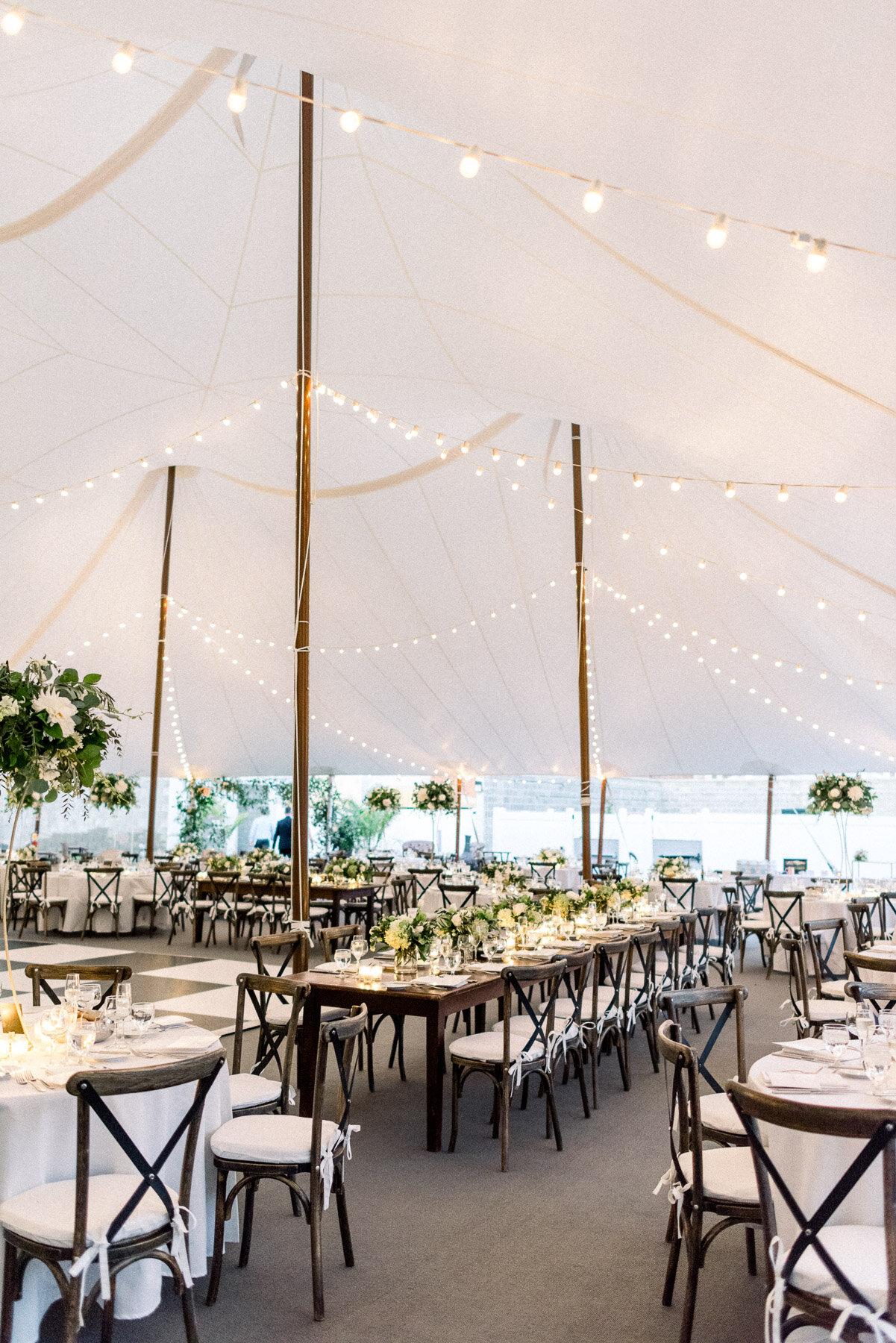 Sailcloth tent Adelphi Hotel Wedding Saratoga Springs NY