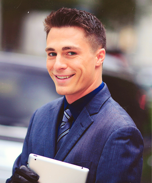 Candid of Colton on the set of CW's Arrow.