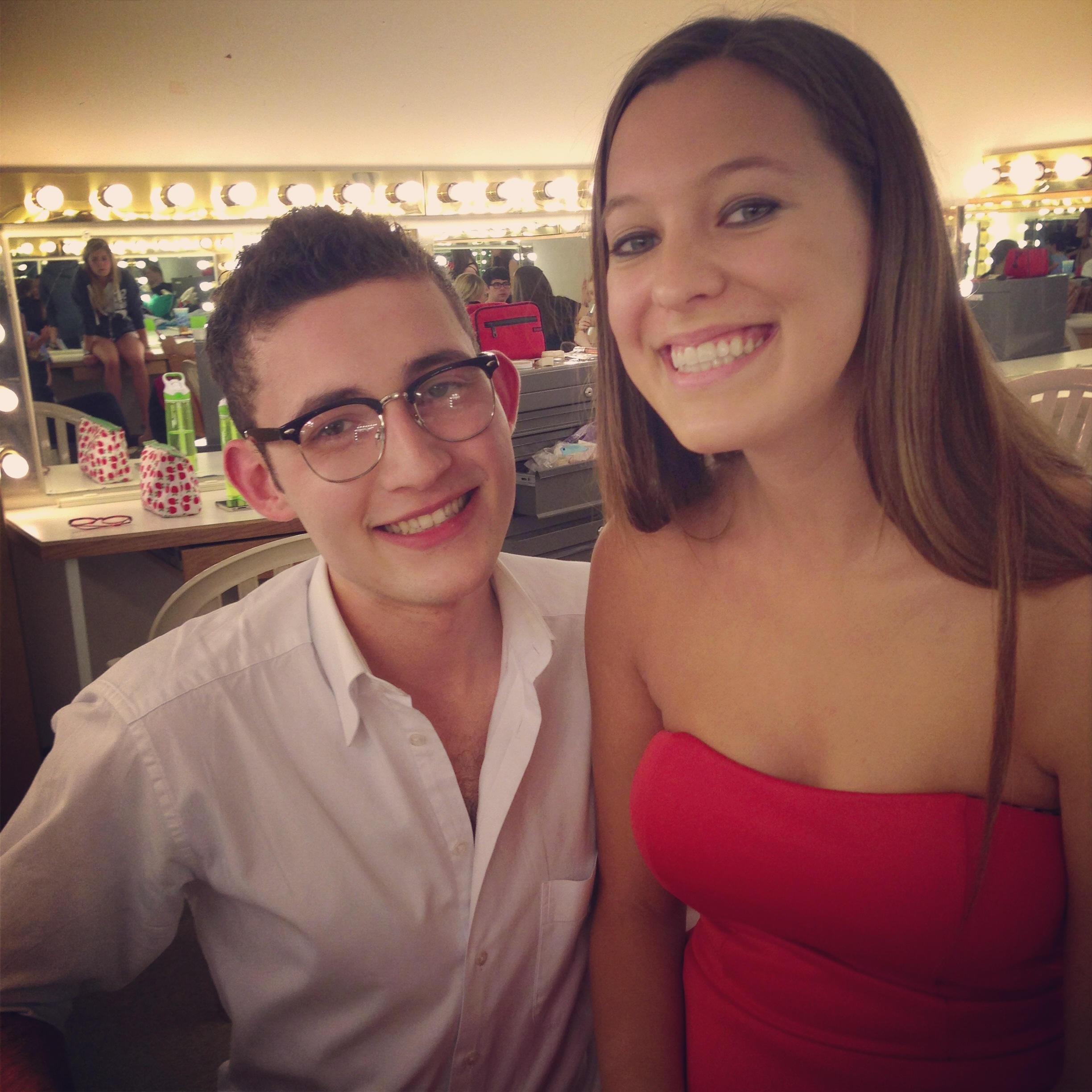 Backstage on opening night with my best friend Hannah.