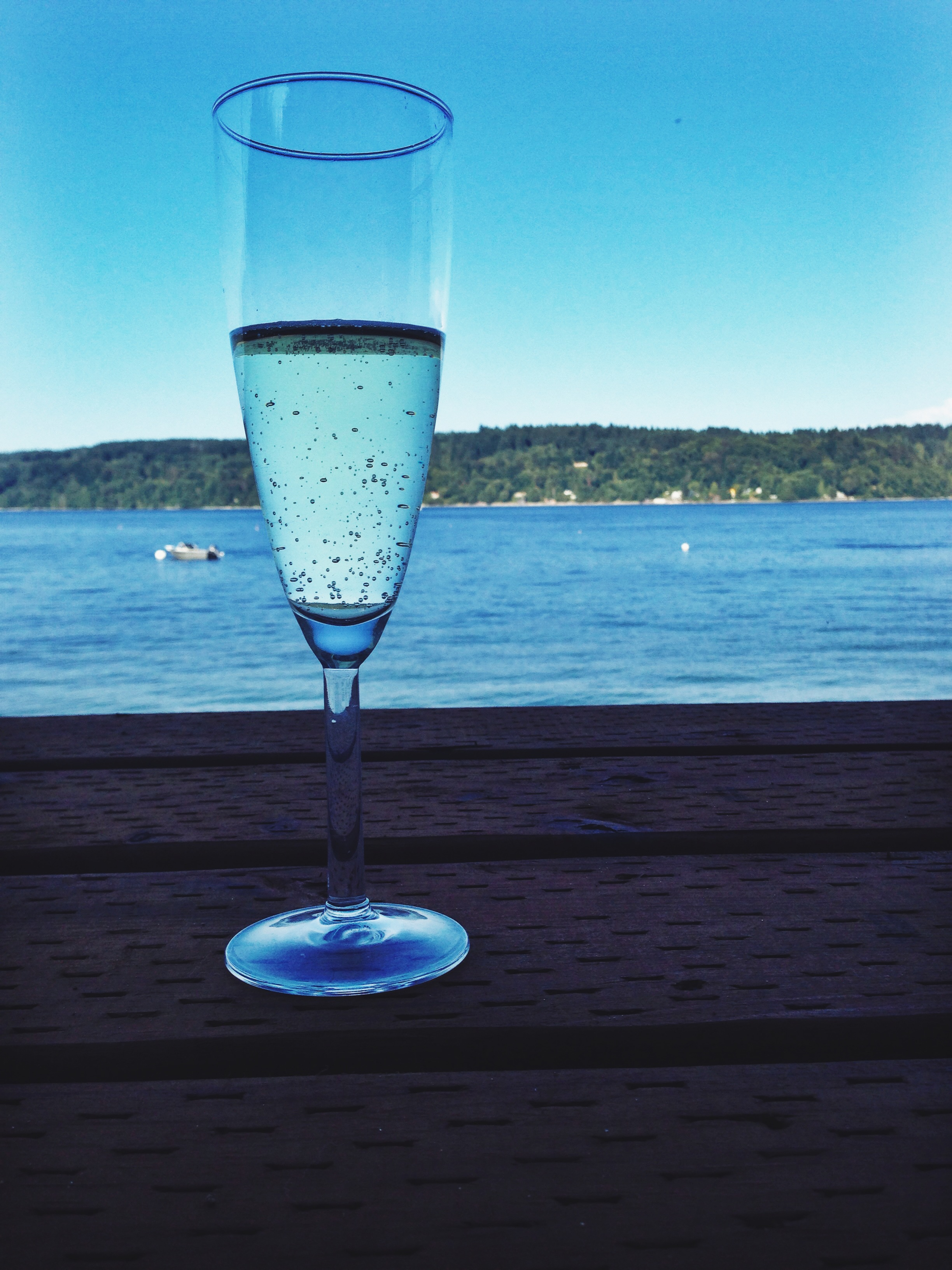 A glass of Moscato D'Asti from Cupcake Vineyards.