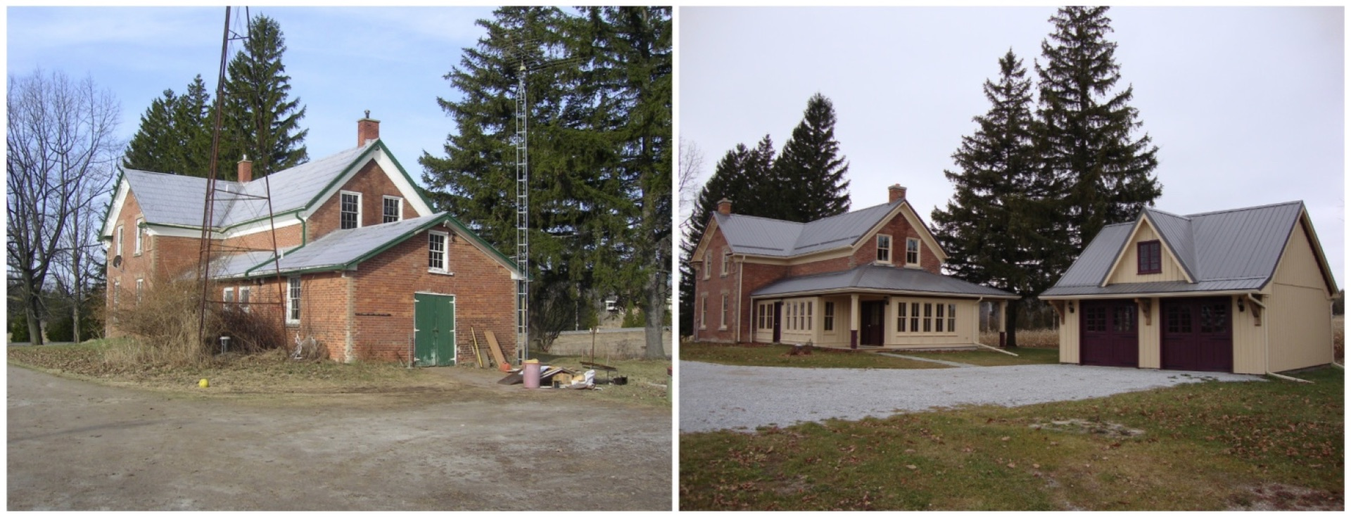 Before and after red brick farmhouse coachhouse.jpg