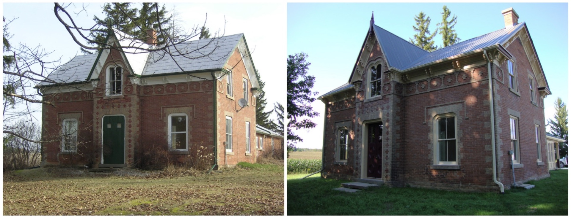 Before and after red brick farmhouse renovation.jpg
