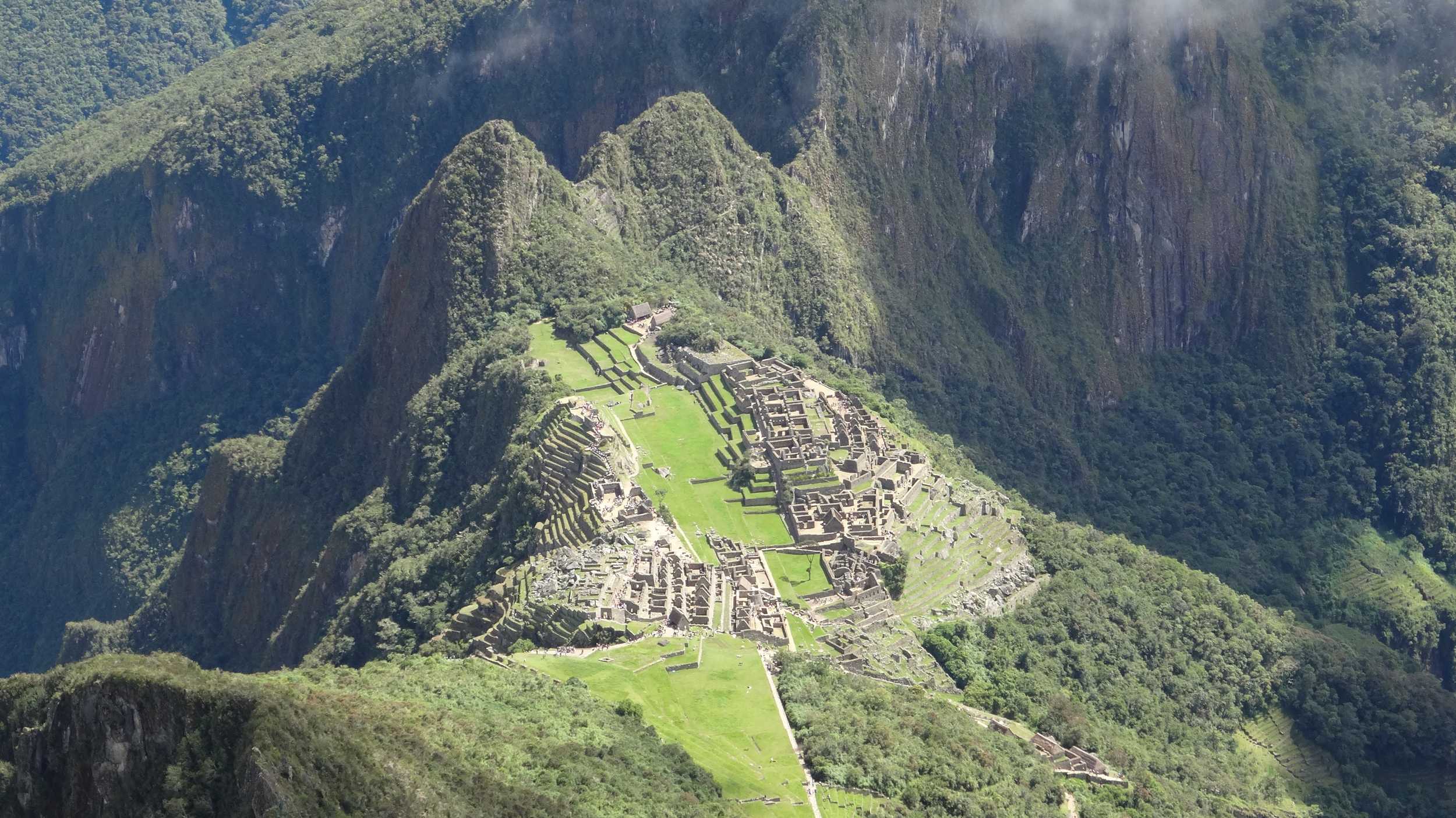 Machu Picchu! Also simply getting there from here - two flights, a train, a bus, and a hike - just made you realize even more how remote and awesome it is.