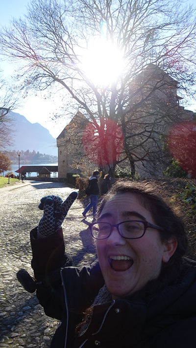 Chillon Castle and the Alps! Gorgeous.