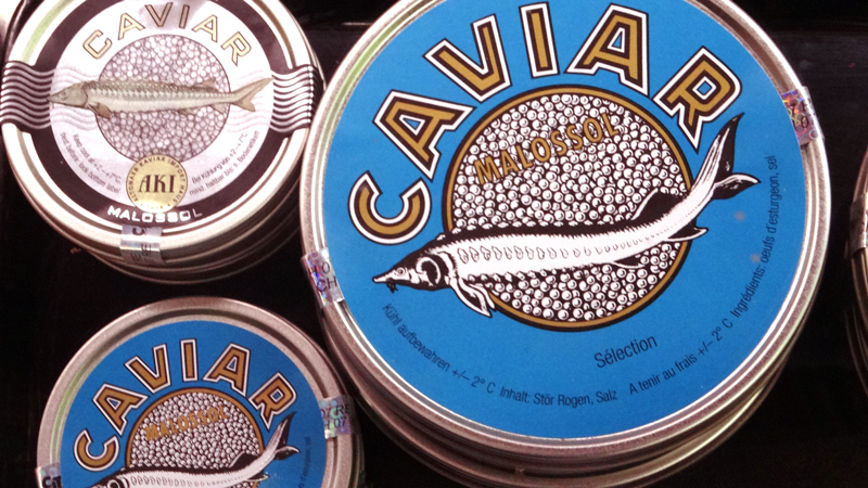 Would you like to pick up a $200 tin of caviar on the way home? You can do that in Switzerland.