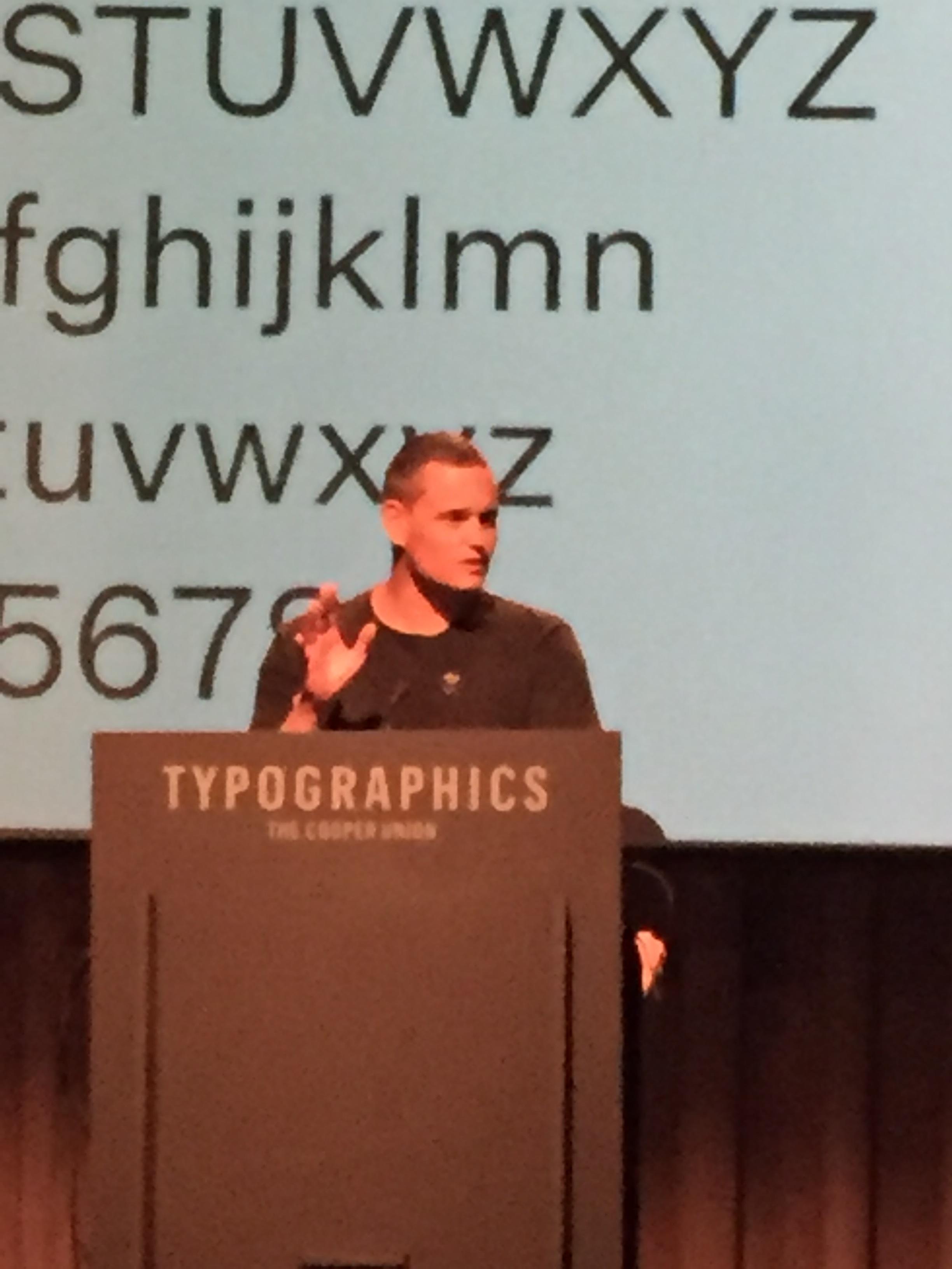 Kris Sowersby of Klim Type Foundry!