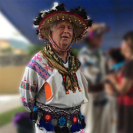 Peter at a ceremonial gathering at Casa Xiuhtecuhtli in 2017.