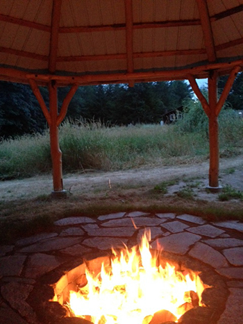 Nestled on ten acres only minutes from I-5, Sacred Fires offer a relaxing escape into nature.
