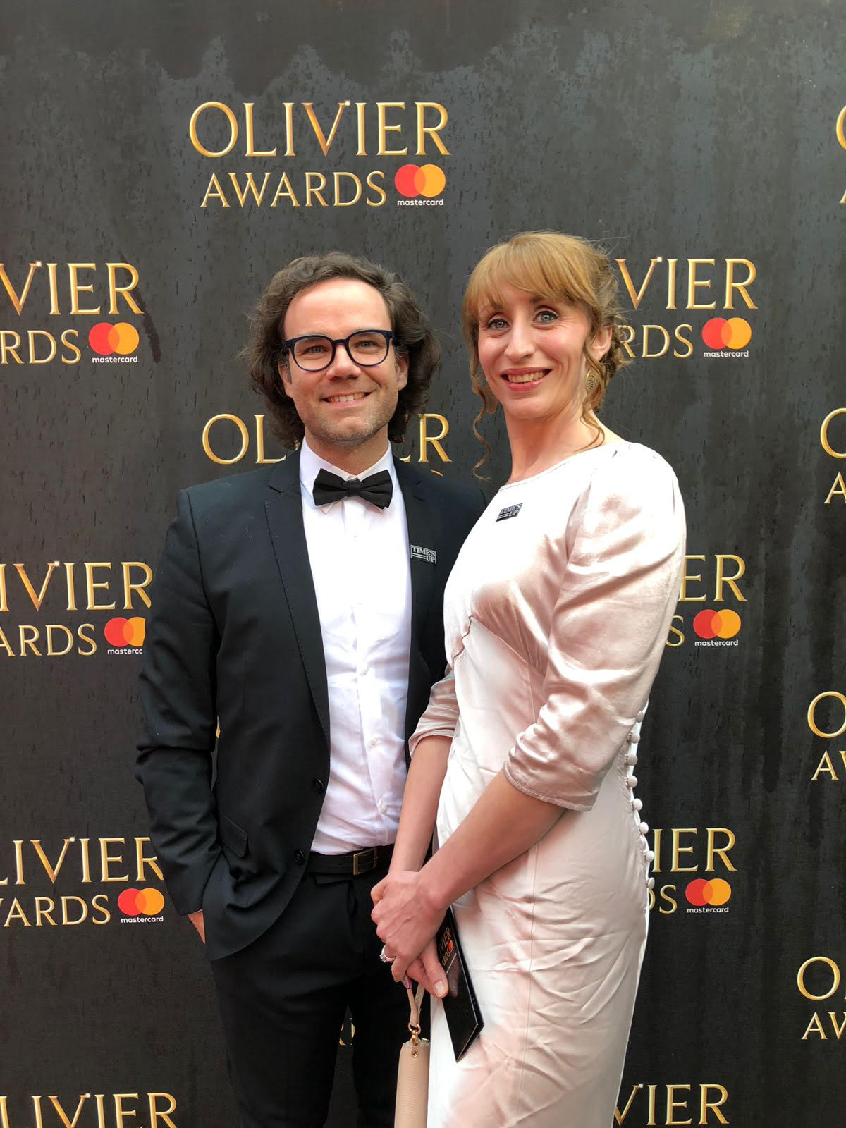 Myself and Adam Spreadbury Maher (Artistic Director of the King's Head Theatre) on the red carpet.