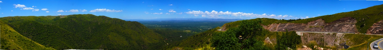 First view of the valley. Off in the distance you can see Carlos Paz and Lago San Roque