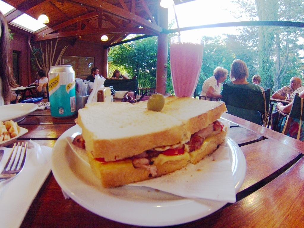 """El Bosque menu pick: Sandwich #10: Ham, bacon, egg, cheese, tomatoes, and more bacon. Ask for Sabrina, and say that """"George"""" sent you"""