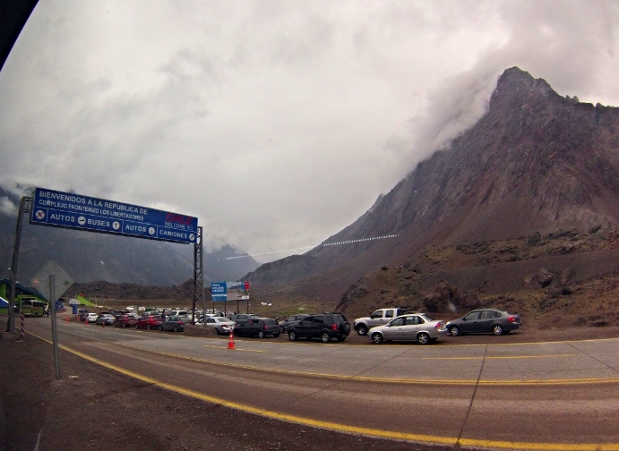First land border crossing of the trip