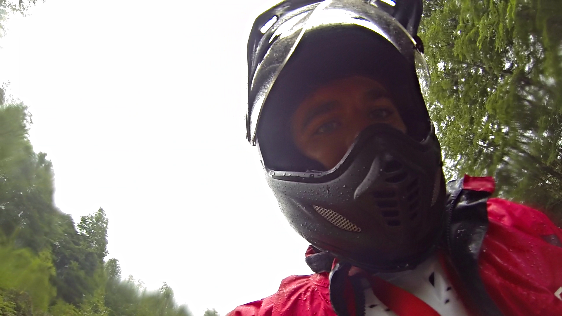 A rainy first day of riding