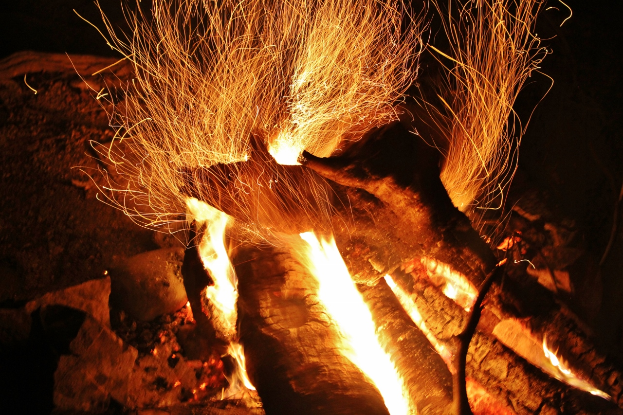 A campfire makes everyone feel better