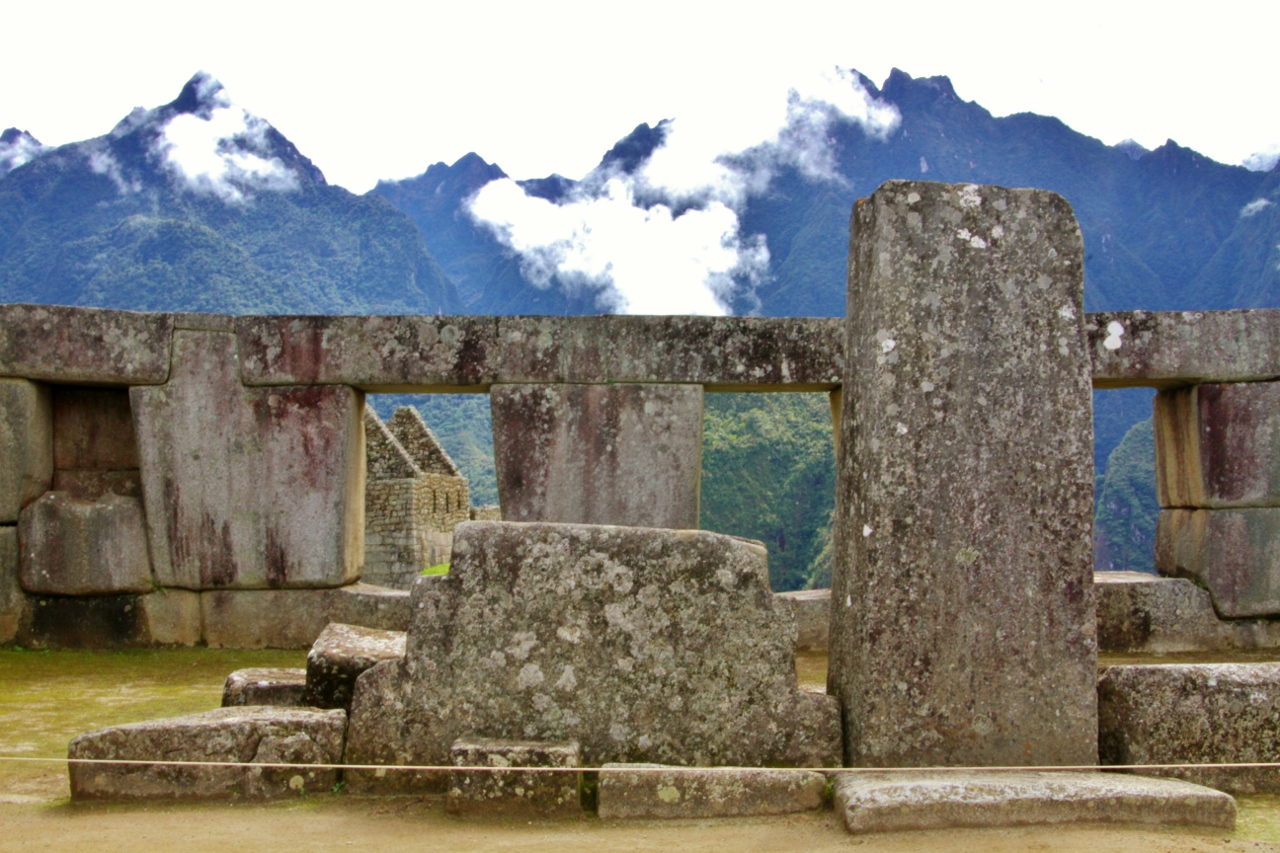 El Templo de las Tres Ventanas. Three was an important number in Incan religion. This temple specifically represents the Incan concept of the three levels ( pachas ) of the world