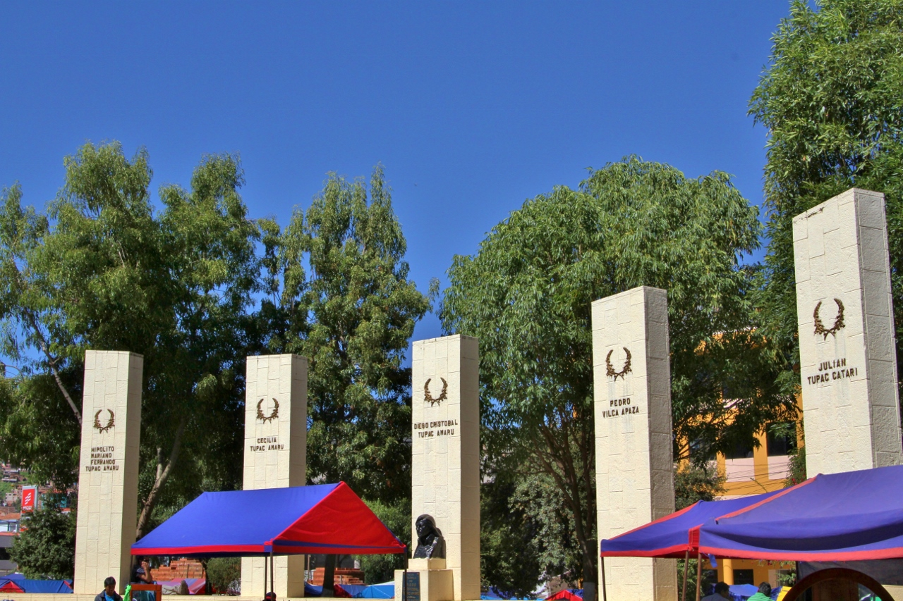 The plaza commemorates Tupac Amaru and his family, all of whom were public executed in Cusco at the end of the rebellion