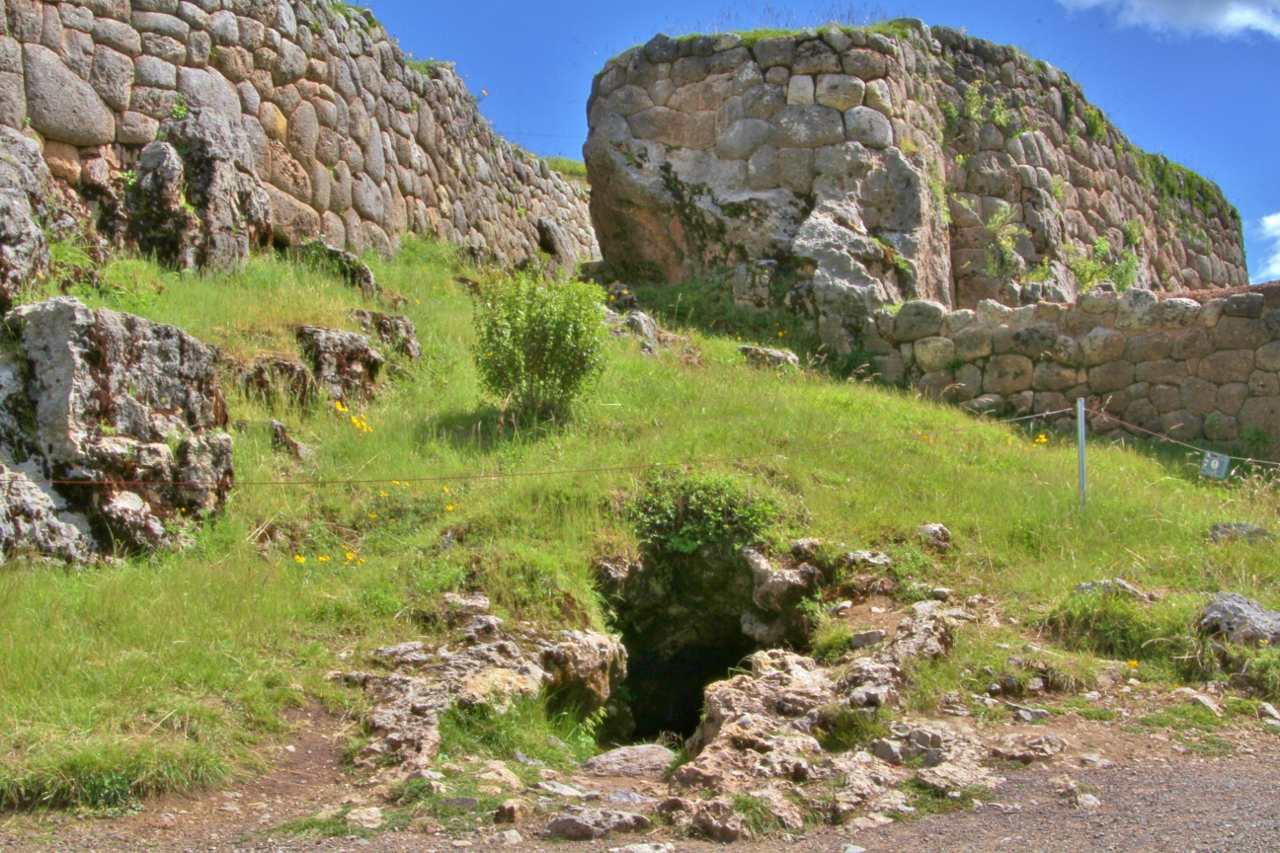 The Inca either left natural caves untouched or incorporated them into their structures