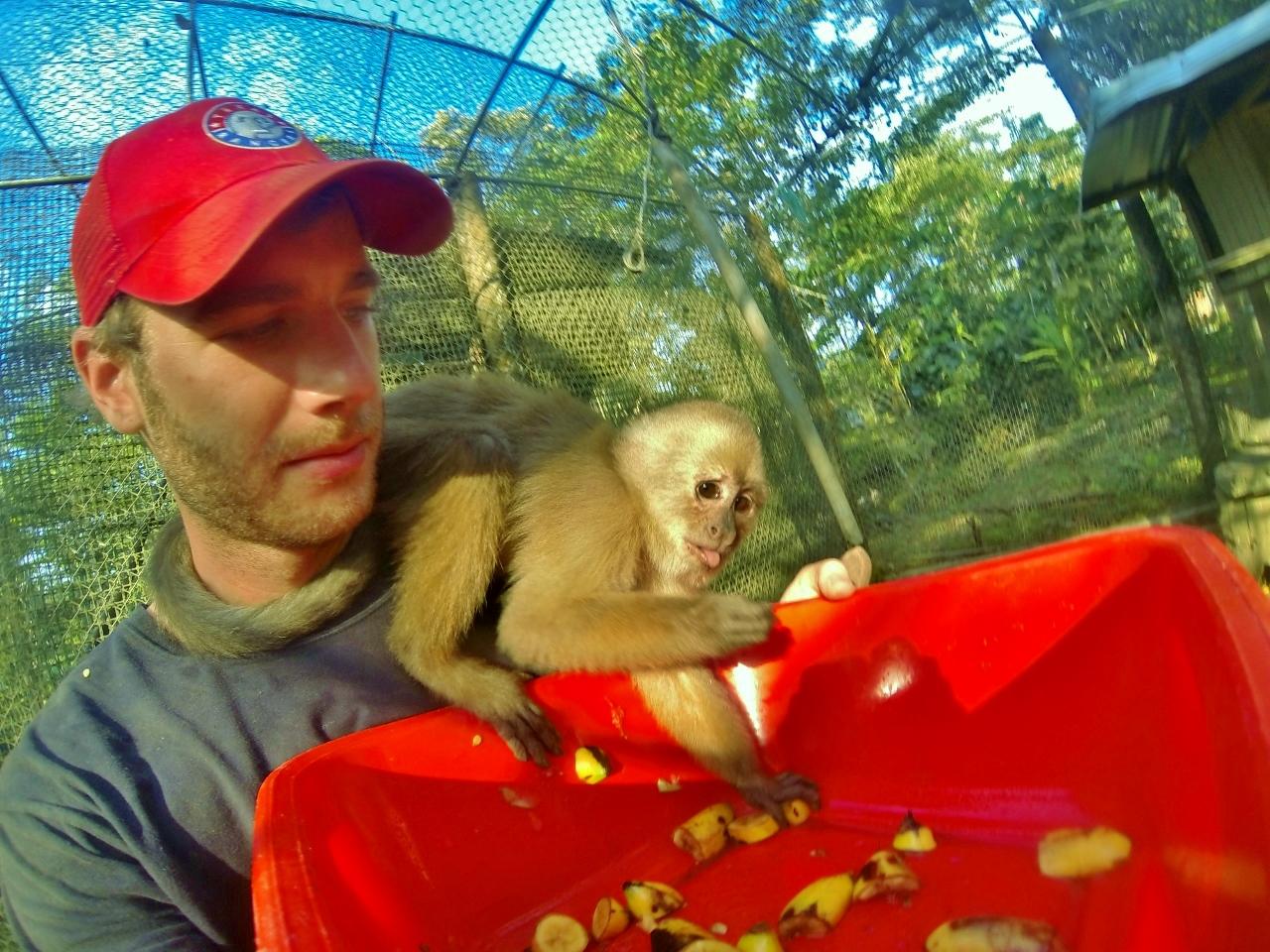 Bros 4 lyfe (with Ricky the capuchin monkey)