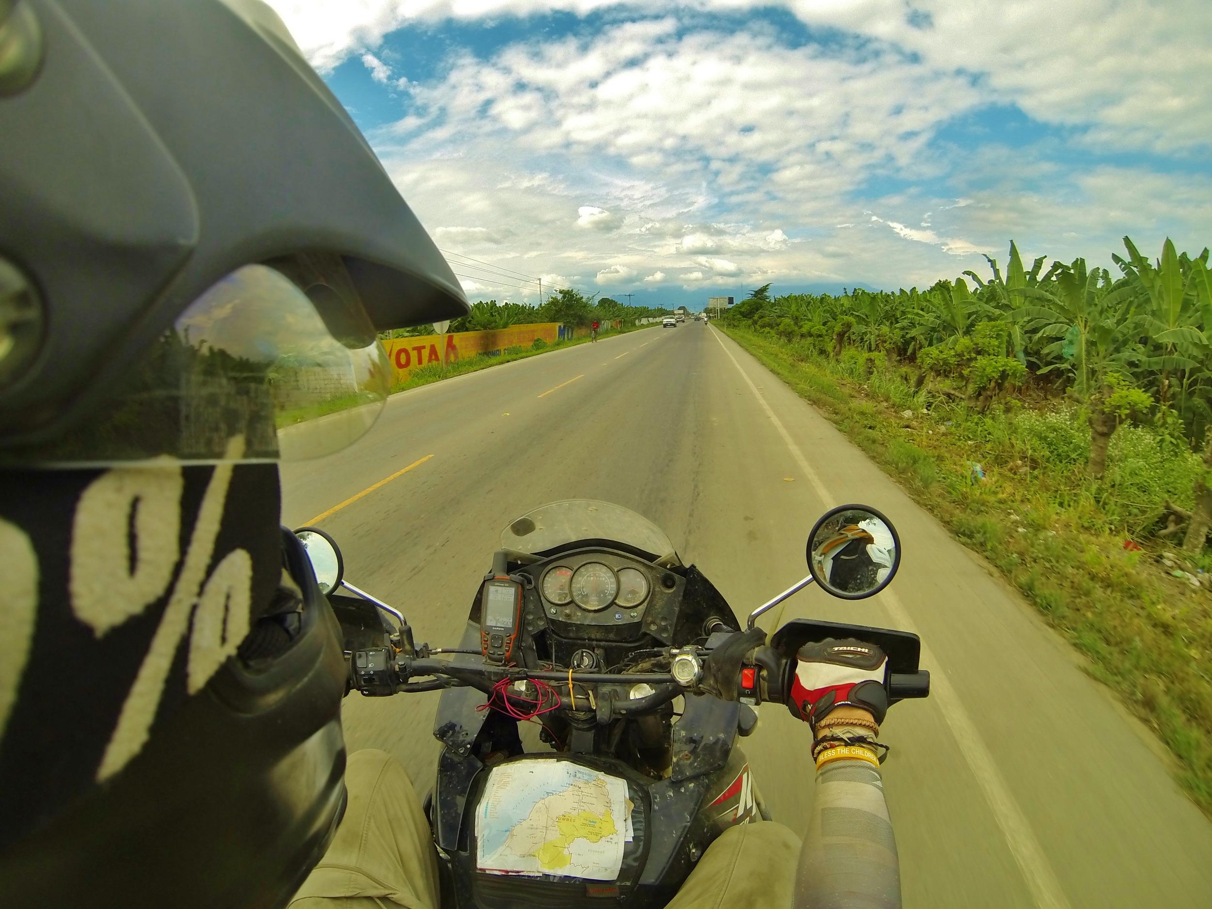 Southern Ecuador's primary motif: banana plantations