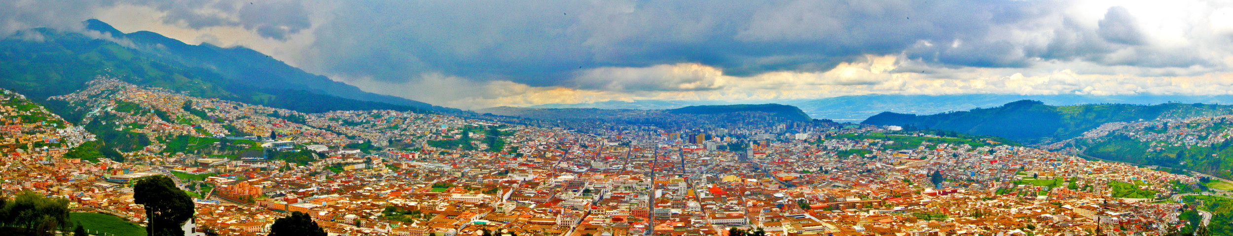 View of Quito from the top of Panecillo