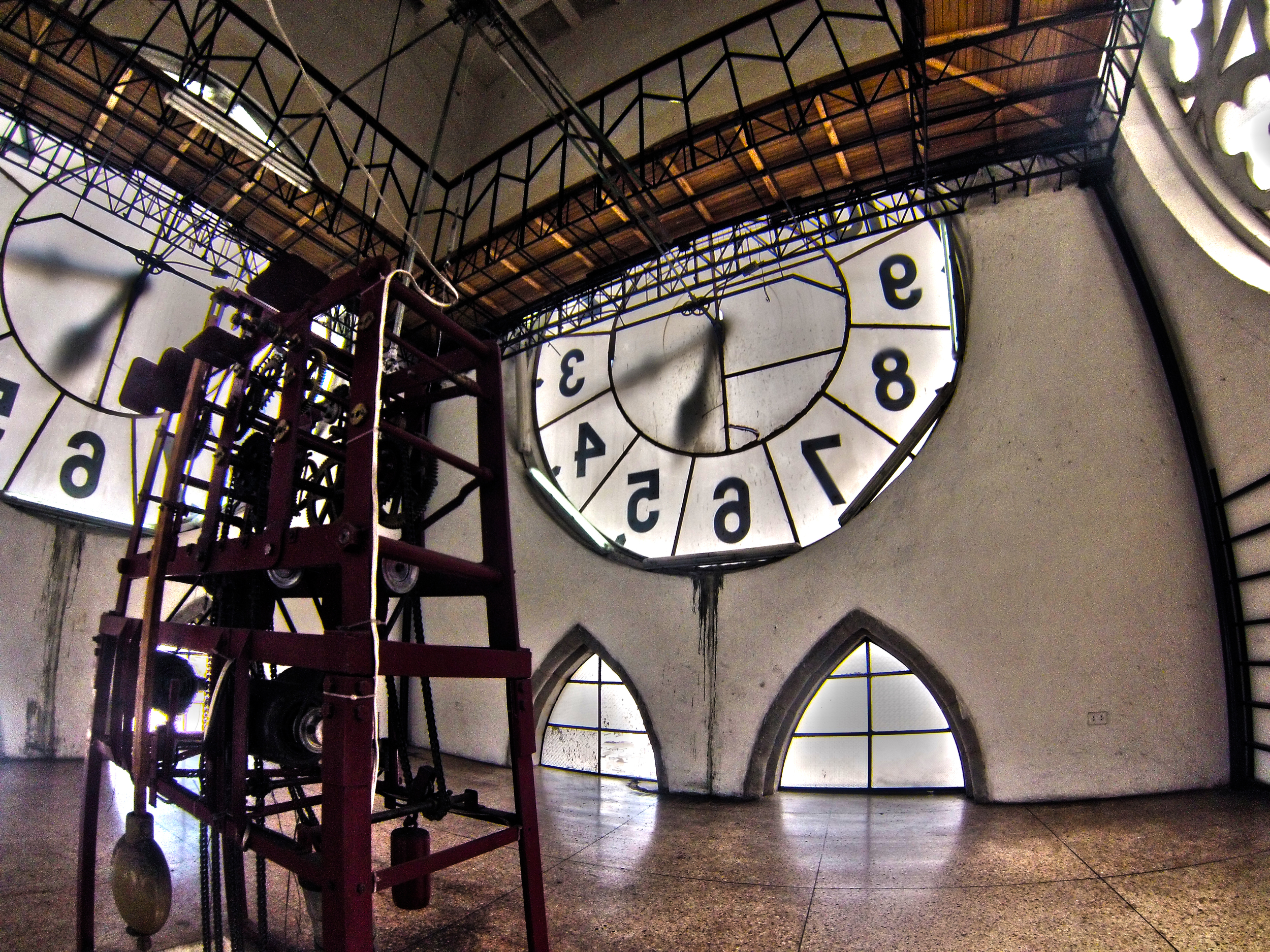 Inside one of the Basilica's clock towers