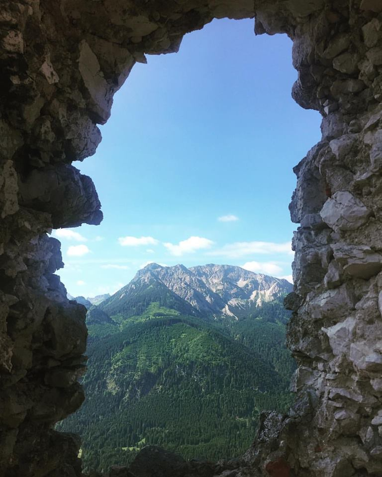 Maybe my fave shot from the weekend: the Bavarian Alps from the ruins of Falkenstein Castle.