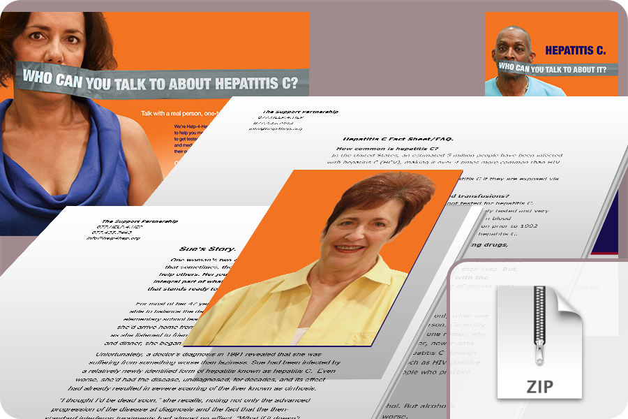 Help-4-Hep Media Kit  – This digital media kit comes complete with electronic files for the patient support materials, as well as key hepatitis C FAQs and an inspirational backgrounder on a very special hepatitis C patient and her decades-long battle against the disease.